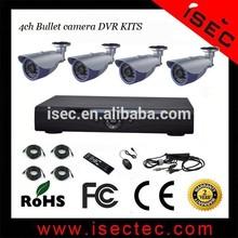 Outdoor Sony CCD Sensor Analog camera 3TB HDD DVR Kits 4ch cctv camera system