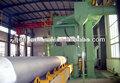 China de granallado máquinas / de tubos de acero de limpieza ahueca hacia fuera y en equipo de chorro / línea de producción