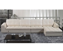 WHITE COLOR LEATHER SOFA SET SECTIONAL SOFA YYLC011
