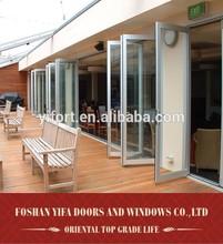 aluminium glass 48 inches exterior folding doors