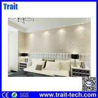 European Classical Style Flocking 3D Non-woven Design the wall paper golden wallpaper