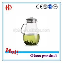 Large capacity transparent heat resistant glass teapot high temperature resistant flower pot cool water pot 1800ml