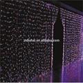 colorido decorativos de plástico de fibra óptica de iluminación moderna cortina de iluminación led de la cortina de navidad luces de la cascada