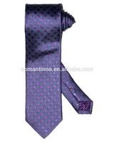 2014 fashion mens silk ties purple dot color