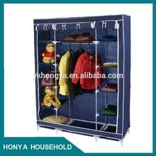 hongya diy folding bedroom fabric portable wardrobe closets