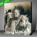 weiß Realismus stil Pferde Bild drucken auf leinwand