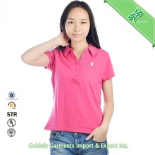 cool dry fabric women sport clothes, dry fit polo shirts for women sport wear