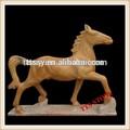 sculpté à la main statue de marbre naturel sculpté cheval