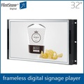 بوصة تلفزيون فلينتستون 32 فرملس، فتح الإطار لافتات الرقمية lcd مشغل فيديو، كامل hd usb ميديا 1080p