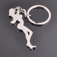 Sexy Lady Figure Beer Opener Metal Keychain Keyring Key Ring
