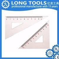 High quality 45 degree triangular scale making plastic ruler
