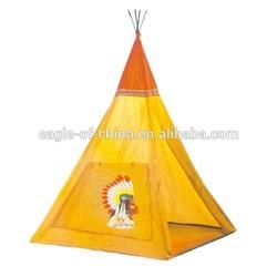 Indian Teepee Tripod Play Tent Kids Hut Children House