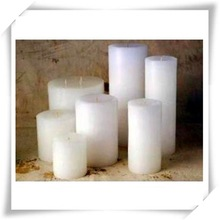 white candle with various shape/scent home decoration