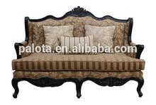 lusso divano sedia classica carving struttura di legno mobili soggiorno divano vintage 2 posti tessuto tappezzeria divano sedia