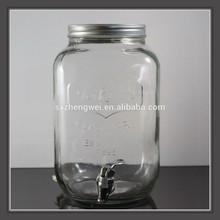 5L glass juice / cool drink / dispenser /beer huge mason jar with tap