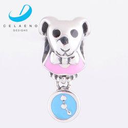 Yiwu Cute Dog 925 Sterling Silver Dangle Charm