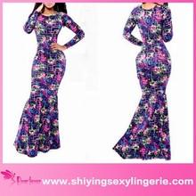 Colorful Labyrinth Print Pakistani Maxi Dress girls photo sexy images