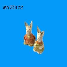 Unique 2 Pieces Decorative Rabbit Figurines