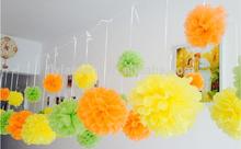 Wholesale paper flowers paper pom poms wedding flower Wall Decoration