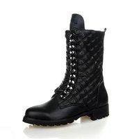 italian leather flat riding boot women brand high fashion half boot 2015