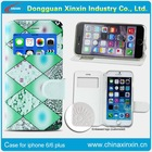 Customized pu leather flip phone printing case sublimation For iphone 6/6plus