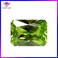 Rettangolo 10*8mm principessa taglio mela verde sintetico cz zirconia cubico gemme pietre