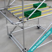 flexible aluminum warehouse storage rack
