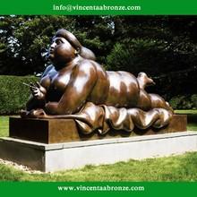 Famous Botero sculpture of bronze fat woman art sculpture
