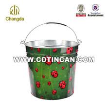 Practical round ice metal bucket