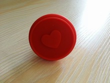heart shaped wooden handle silicone cookie stamp