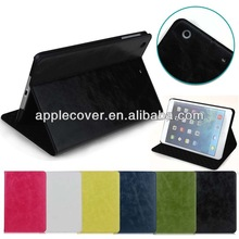 new arriving crazy horse PU leather case for ipad mini