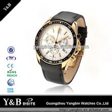 Men brand watches gold, japan movt quartz watch price