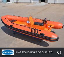 Fiberglass Inflatable Boat Rigid RIB Boat