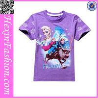 Simple Short Sleeve Purple T Shirt Kids