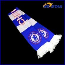 HZW-13286001 custom cheap Sky Blue durable universal muffler acrylicplain football scarf