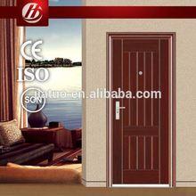 good quality steel doors hot sell exterior door american steel doors with six panel design