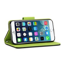 flip PU leather mobile phone case for iphone 6 and stand ,for iphone 6 pu leather wallet case