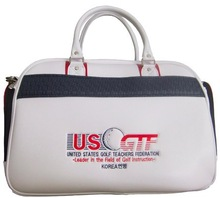 high quality PU golf cloth bag with straps