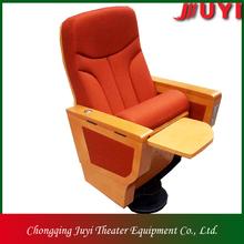 Jy-999d precio de fábrica más barata de la tableta de la alta calidad de madera auditorio asiento apoyabrazos de madera maciza hall de interior del asiento