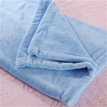 Crocheted Guangzhou mink wool high quality bamboo fiber baby blanket