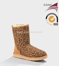 Classic leopard chestnut sheepskin Winter boot