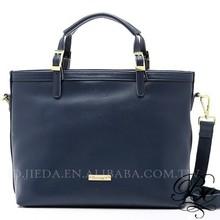 Navy blue women bag 2015 zipper document bag