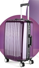 2014 best selling abs pc frame travel luggage AL-001 purple color