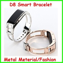 D8 Bluetooth Metal Smart Bracelet,Pedometer smart watch,Global Bluetooth Wrist Bracelet