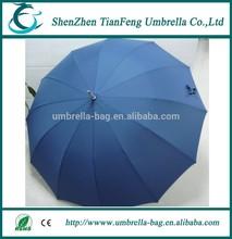 deep blue pongee fabric umbrella cover 16k golf umbrella