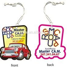 promotional brand names custom make paper car freshener