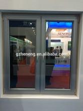 Guangzhou pvc wood color casement window/ Double glass PVC casement windows/ windows and door pvc profile