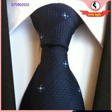 2015 hot wholesale sky bright dark blue lozenge tie jacquard 100% silk tie