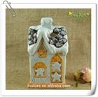 Ceramic christmas house shape candle holder