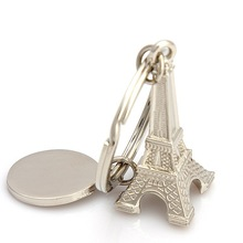 Unique Retro Eiffel Tower Keyfob Paris Model Metal Keychain Keyring